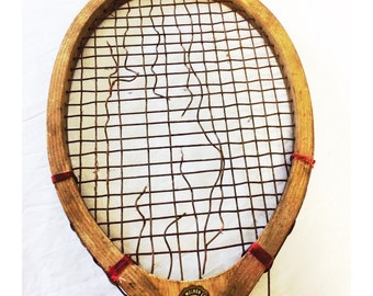 Vintage Wooden Swift Tennis Raquet