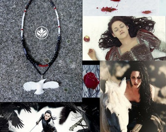 Snow White and the Huntsman Necklace, Snow White Necklace, Snow White Inspired Necklace, Queen Ravenna Necklace, Cosplay Necklace, Cosplay