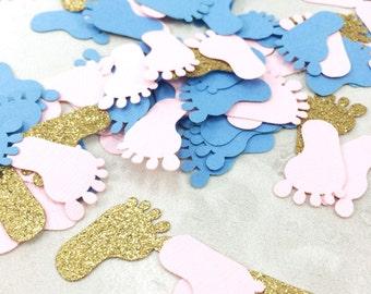 1,000 Baby Feet Confetti   Gender Reveal Confetti   Foot Confetti   Pink Feet   Blue Feet   Feet Confetti   Baby Feet   Gender Reveal