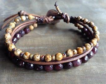 Bohemian bracelet boho chic bracelet hippie bracelet gypsy womens jewelry boho chic jewelry rustic bracelet natural bracelet boho chic style