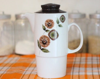 Johnson Bros coffee pot with brown lid