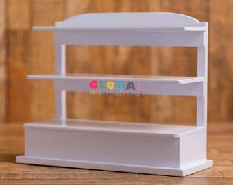 Dollhouse Miniatures 2-Storied Bakery Shelf