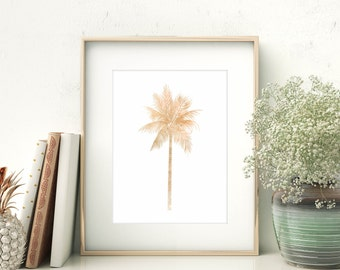Palm Tree Print, Wall Art Prints, Nursery Artwork, Digital Download Art, Palm Print, Palm Tree Art, Printable Wall Art, Tropical Art Print