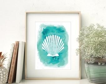 Seashell Print, Shell Art, Marine Art Print, Marine Decor, Sea Shell Print, Beach Wall Decor, Printable Shells, Coastal wall Art, Art Prints