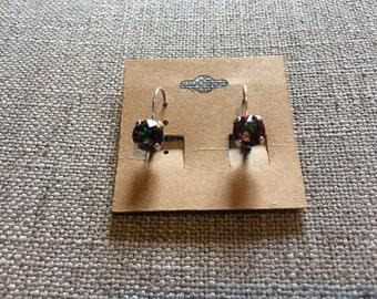 Vitrail Medium (multi color) Swarovski crystal 8mm earring