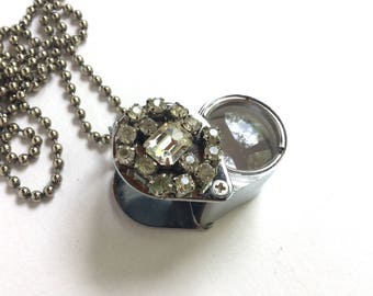 Upcycled Vintage Magnifier Necklace with Loupe Or Magnifier