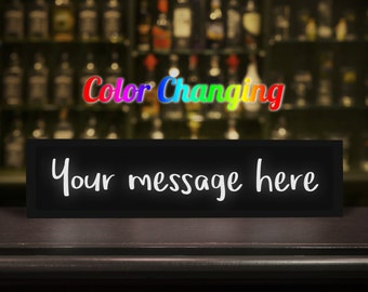 Custom Sign, Your Message Here, Custom Message Sign, Create Your Own Message, Custom Name Sign, Light Up Sign, Business Sign