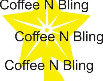 Star Tree Topper svg, silhouette, cricut, decal, vinyl, digital file, christmas tree topper, star svg, Christmas svg,