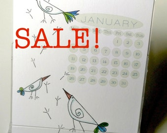 Sale! Beaky Birdies Desk Calendar 2017 US & UK Layouts CD case/stand.