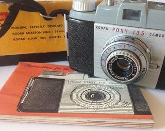 Vintage Kodak Pony 135 Camera- 1950s