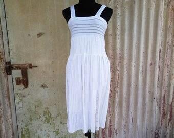 White dress, Sleeveless dress, White Midi Dress, Womens dress, Evning dress, Womens dresses, Chic White Dress,Vintage dress,90s dress,Size S