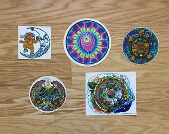 Vintage Psychedelic Sticker Pack 3