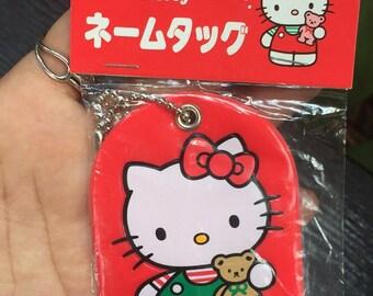 Vintage Keychain 1992 Sanrio Hello Kitty Name Tag