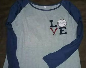 Baseball raglan, Baseball Tunic, Baseball, Baseball mom, LOVE baseball