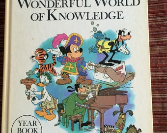 Disney Encyclopedia,Disney Book,70s Children Book,1977 Book,Disney Children Book,Disney Knowledge Book,Child Encyclopedia,Disney Child Book