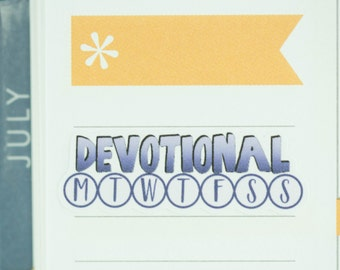 36 Daily Habit Stickers | Planner Stickers designed for use with the Erin Condren Life Planner | 0661