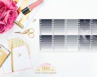 10 July 2017 Ombre Checklist Stickers   Planner Stickers designed for use with the Erin Condren Life Planner