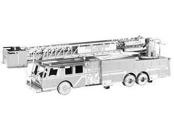Fascinations Metal Earth Fire Engine Truck 3D Metal Model Kit