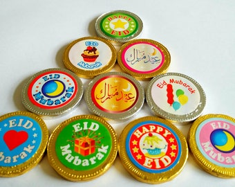 Eid Chocolate Coins 10pack Eid Present Eid Gift Eid 2017 Eid Decorations wholesale
