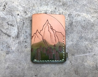 "Trifold leather wallet ""Mountains"" edition"