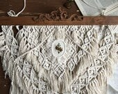 Handwoven Wall Hanging Embroidery Floral Lace Oval