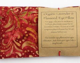 Organic Flaxseed and Lavender Eye Pillow/Meditation/Relaxation/Yoga/Savasana/Wellbeing