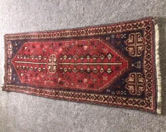 Antique Persian Traditional Hamadan Runner Rug 6'x2'