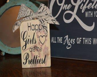 Audrey Hepburn Quote- Happy Girls are the Prettiest