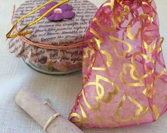 Jar of jasmine scented bath salts