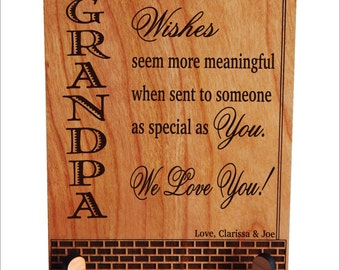 Grandpa Gift, Gift to Grandpa, Papa Gift, Granddad Gift, Grandfather Keepsake plaque, Granddad Plaque, Grandpa Birthday Gift, PGP001