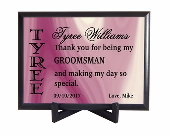 Personalized Groomsman Gift,Thank you Gift to Best man from Groom, Custom Gifts ,Bridal Entourage Gifts , Wedding Appreciation Gifts,PHW006