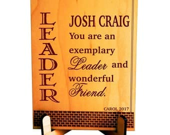 Lead-Supervisor Plaque Gift, Boss's Day Gift, Custom Gift for Manager-Boss-Direcor Gift, Thank you Gift to my Boss, Desk top decor, PBA002
