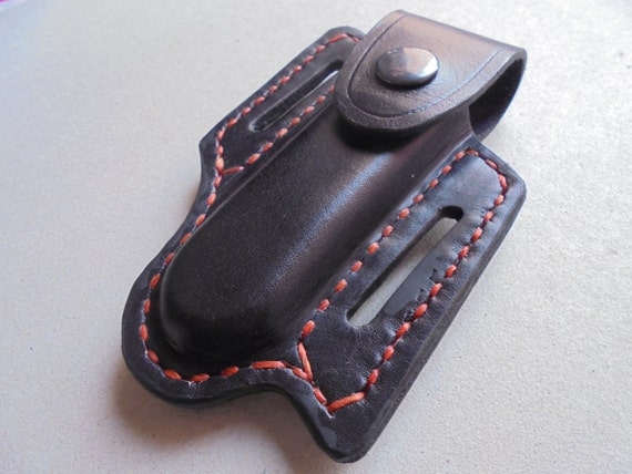 Leder Gürteltasche Für Taschenmesser, Tasche Messer, Beutel Für Messer,  Schweizer Messer, Leder Schwarz, Leder Natürliche Farbe, Fertigen Beutel