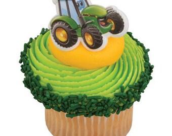 John Deere Johnny Tractor Cupcake Rings Cake Decorations Set of 12