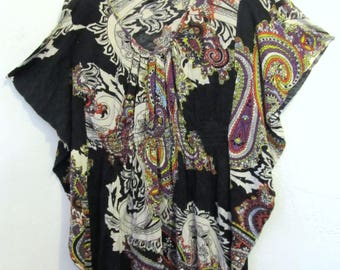 A Pretty Vintage 90s Black BuTTERFLY Sleeve Boho Top By PAISLEY & IVY.S