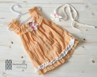 Baby summer dress, chiffon summer dress, chiffon sun dress, photography props, baby photo props, newborn photoprops