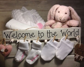Adorable Baby Girl Gift Hamper in Wooden Crate - Newborn/baby shower
