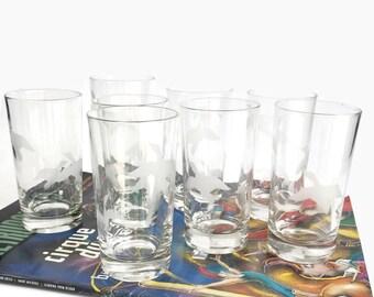 Vintage Hi Ball Glasses - Duck Motif