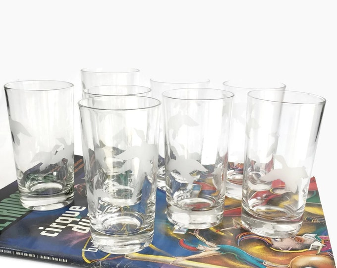 Vintage Hi Ball Glasses - Duck Motif