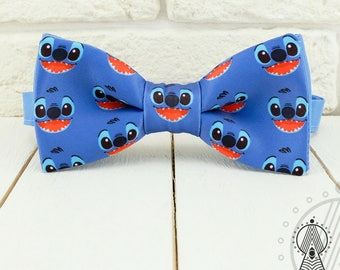 Stitch Bow tie . Blue bowtie . Cartoon bow tie . Lilo and Stitch . Mens fashion . Grooms bow tie . Modern accessories