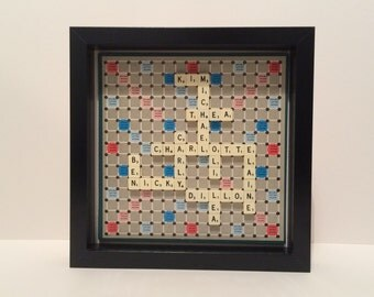 Scrabble Art Personalised Picture - travel scrabble board and tiles