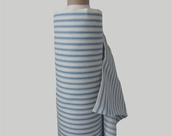 Blue Striped Cotton Ticking