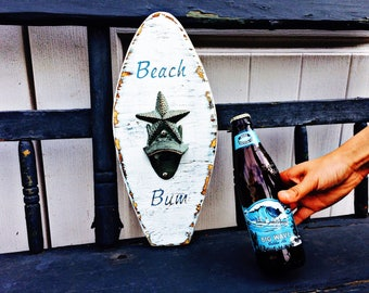 Beach Bum Surfboard Bottle Opener
