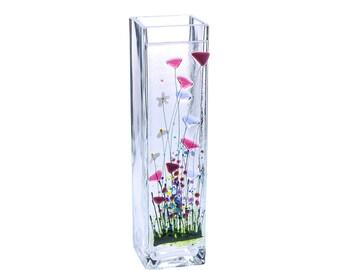 Handcrafted Fused Glass Art- Wild Garden Vase