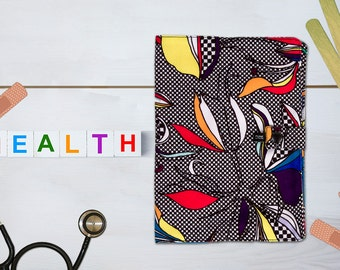 Protects health Iris booklet made in France with hand