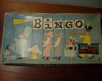 Vintage Bingo Pressman Metal Spinner