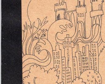 Imagination 1 Small Notebook Sketchbook Handmade Drawing Illustration Cover