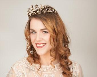 Bridal Tiara Vintage Gold