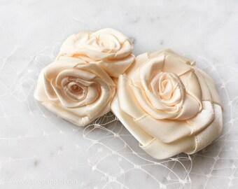 Bridal Ivory Roses Veil