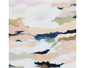 """Moving Mountains   16"""" x 20"""" Original Acrylic and Gold Leaf Painting on Canvas"""